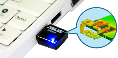 ASUS USB-N10 Wireless N Mini USB adapter retail